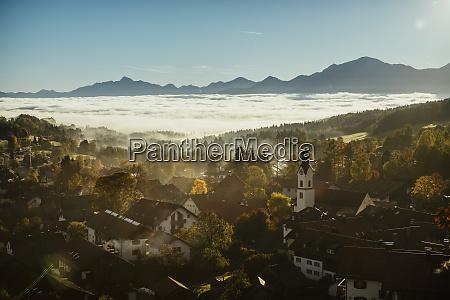 scenic tranquil view bad kohlgrub bayern