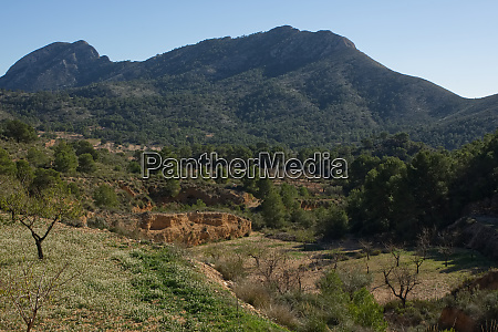 countryside near alicante spain