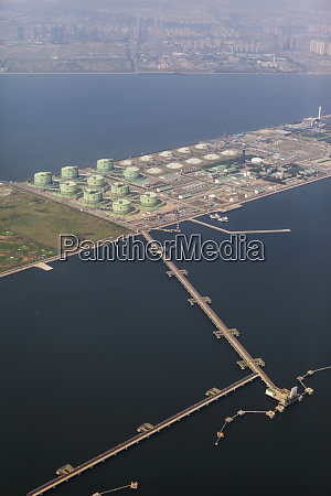 aerial view of commercial dock busan