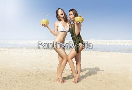 two asian sexy girl in bikini