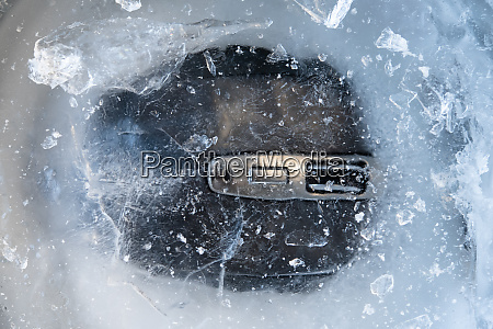 computer mouse in ice