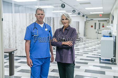 two doctors in hospital
