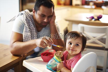 portrait of baby girl sitting in