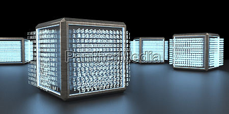 3d rendering digital cubic units with