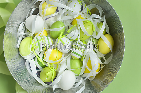 bowl of painted easter eggs