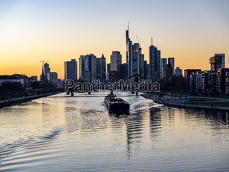 germany hesse frankfurt skyline of financial