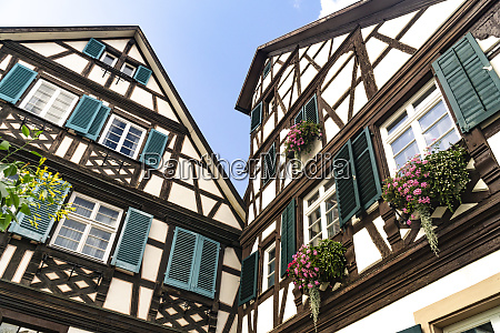 half timbered house in gengenbach