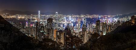hong kong causeway bay panorama cityscape