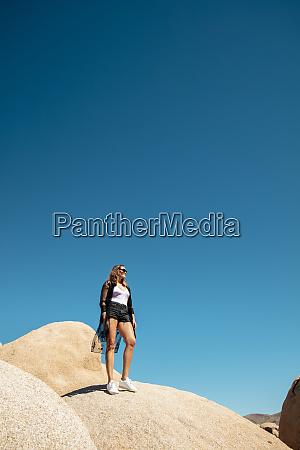 usa california los angeles woman standing
