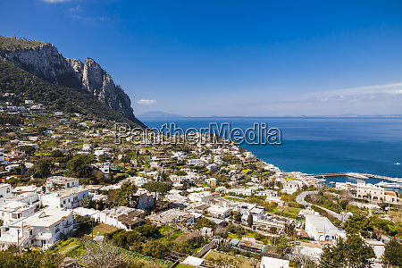 italy campania capri buildings aginst the