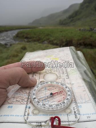 great britain scotland knoydart peninsula hand