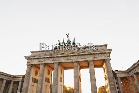 germany berlin brandenburger tor in autumn