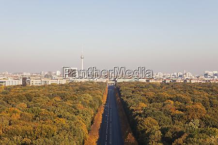 germany berlin view to grosser tiergarten