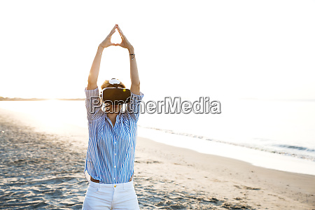 blonde woman doing kind of yoga
