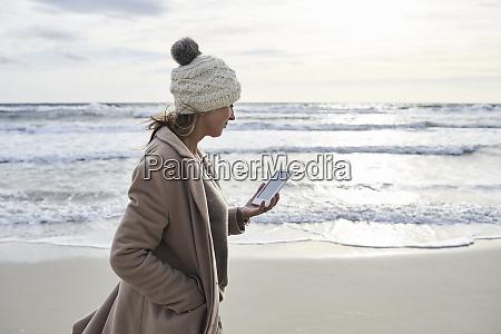 spain menorca senior woman walking on