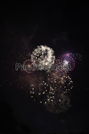 fireworks on sky at night