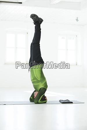man doing his fitness regime practising