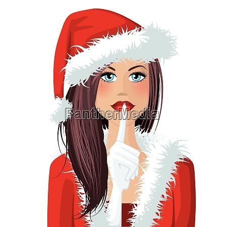 mrs santa illustration