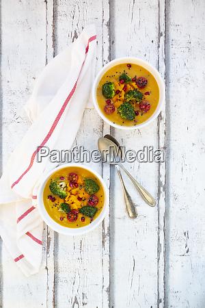curry dish with pumpkin sweet potato