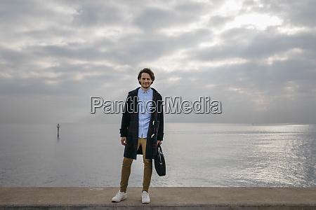 spain barcelona portrait of confident man