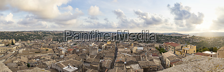 italy sicily modica townscape panorama at