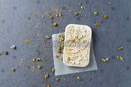 self made chamomile soap