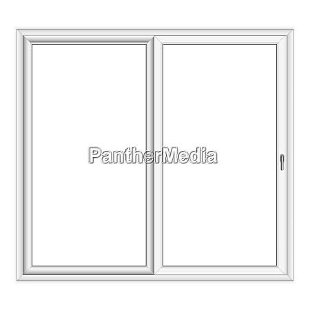 white pvc vector bay window