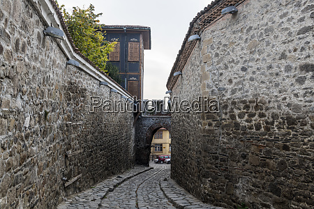 cobbled streets in the old town