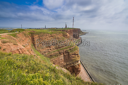 germany helgoland island red cliffs
