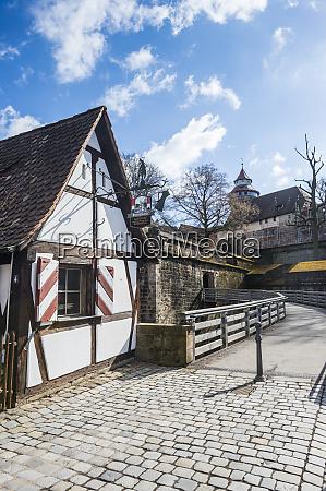 germany nuremberg back entrance to nuremberg