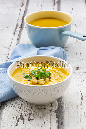 bowl of sweet potato soup with