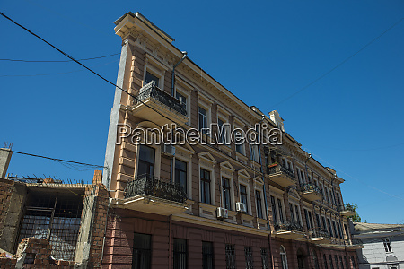 ukraine odessa house with one wall