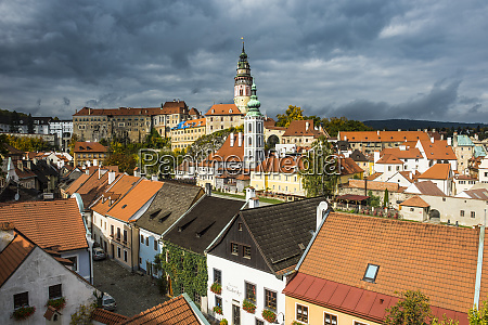 czech republic cesky krumlov overlook over