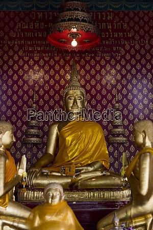 thailand bangkok buddha statues inside a