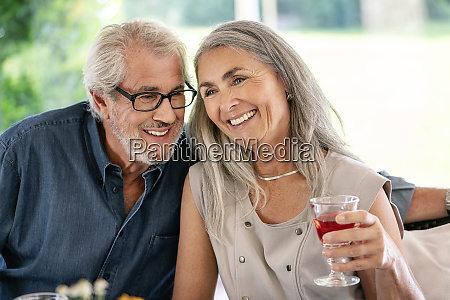happy senior couple on a family