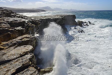 spain canary islands fuerteventura rocky coast