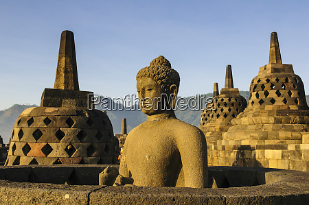 indonesia java borobudur temple complex buddha