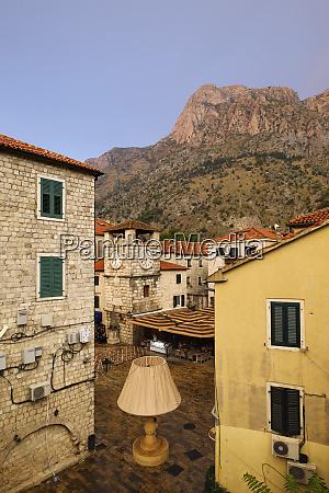 montenegro kotor old town main square