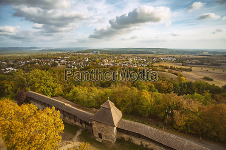 germany bavaria bamberg view from the