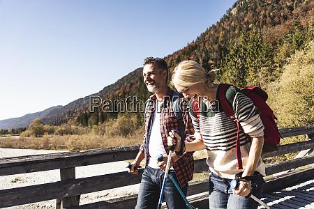austria alps happy couple on a