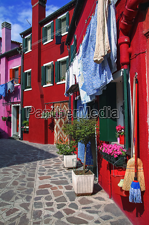 vibrant coloured buildings in the streets