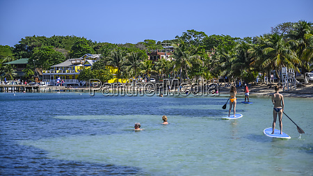 tourists enjoying the water off the