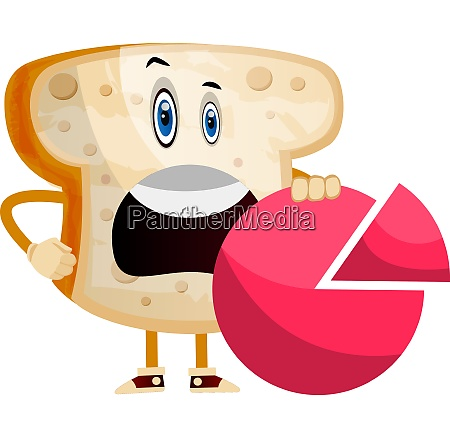 statistic bread illustration vector on white