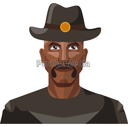 guy with mustaches wearing a hat