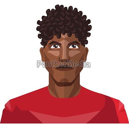 pretty guy wearing a red shirt