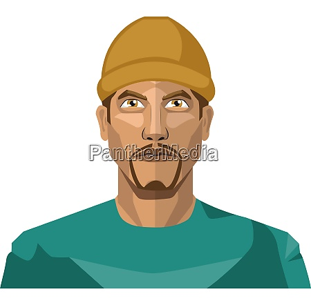 guy with a goatee beard wearing