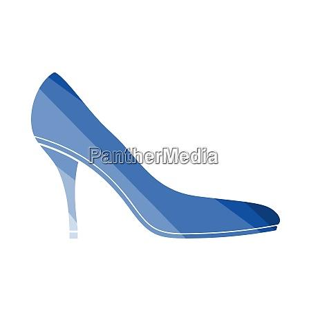 middle heel shoe icon