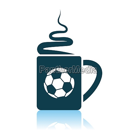 football fans coffee cup with smoke