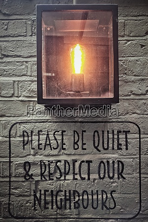 please be quiet and respect our