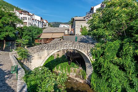crooked bridge in mostar bosnia